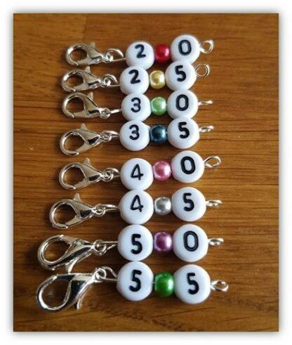 Stickmarkörer med siffror