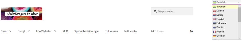 skärmdump på butiken med det nya översättningstillägget
